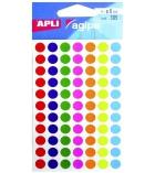 Pochette de 385 pastilles adhésives APLI - 100624 - assortiment