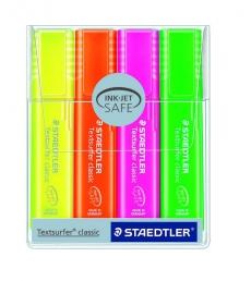 Pochette de 4 surligneurs STAEDTLER - Textsurfer - 1 à 5 mm - assortiment