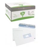 Boîte de 500 enveloppes auto-adhésives LA COURONNE - 162 x 229 mm - fenêtre 45 x 100 - 90 g