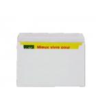 Boîte de 500 enveloppes ouverture facile - 162 x 229 mm - sans fenêtre - 90 g