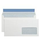 Boîte de 500 enveloppes auto-adhésives - 110 x 220 mm - fenêtre 35 x 100 - 90 g