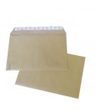 Boîte de 250 enveloppes auto-adhésives kraft - 229 x 324 mm - sans fenêtre - 90 g