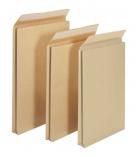Paquet 50 pochettes auto-adhésives kraft brun armé - 260 x 330 - sans fenêtre - 130 g - soufflet 30