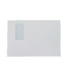 Paquet 50 pochettes auto-adhésives kraft blanc - 229 x 324mm - fenêtre 50 x 100 - 150g - soufflet 30