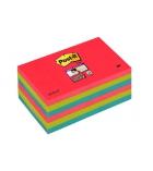 Paquet de 6 blocs notes POST-IT Super sticky - 76 x 127 mm - couleurs vitaminées