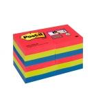 Paquet de 12 notes POST-IT Super sticky - 51 x 51 mm couleurs vitaminées