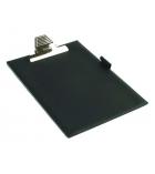 Porte-bloc pince jumbo avec porte stylo - pour A4 - noir