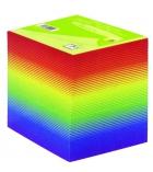 Bloc cube encollé arc en ciel - 9 x 9 x 9 cm - 80 g