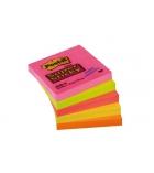 Paquet de 5 blocs repositionnables POST-IT Super Sticky Néon - 76 x 76 mm