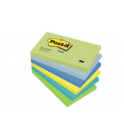 Lot de 6 blocs POST-IT - 76 x 127 mm couleurs rêve