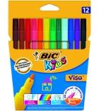 Pochette de 12 feutres BIC KIDS - assortiment - pointe fine