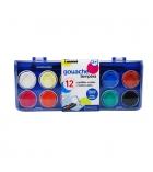 Boîte de 12 pastilles de gouache - PEBEO - avec pinceau