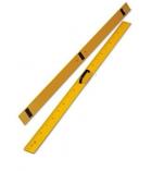 Règle aimantée en plastique jaune - 1 mètre