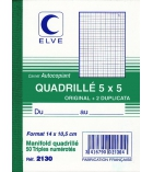 Autocopiants ELVE - 2130 -  Manifold - 50 tripli - 105 x 148 mm