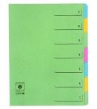 Trieur extensible couverture carte - 7 compartiments
