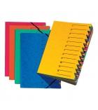 Trieur couverture carte dos agrafé à élastique - 12 compartiments