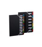 Trieur couverture à élastique - 12 compartiments - dos extensible