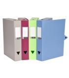 Lot de 10 boîtes de classement VIQUEL Filing - polypro - dos 4 cm - assortiment