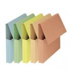 Paquet de 10 pochettes à rabat FAST VIP - dos 3 cm - couleurs pastel