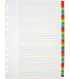 Jeu intercalaires alphanumérique mylar - 31 touches couleur - A4+