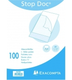 "Etui de 100 pochettes coin polypro EXACOMPTA ""stop doc"""