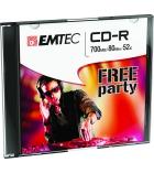 Pack 10 CD-R 80 min/700 Mo EMTEC - 52x - boîtier slim