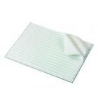 Carton papier listing 2000 plis 11''x 380 mm - 1+0 - 70 g - zoné vert - bande caroll fixe