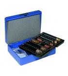 Caisse à monnaie avec trieur - bleu