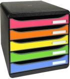 Module de classement EXACOMPTA Big box plus Arlequin - 5 tiroirs