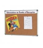 Tableau en liège - cadre alu - 90 x 180 cm