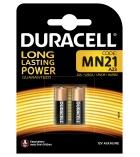 Lot 2 piles speciales pour télécommandes et alarmes DURACELL - MN21 - 12 volts