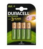 Paquet de 4 piles rechargeables DURACELL - HR06 - 1,5 volts