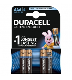 Paquet de 4 piles DURACELL - Ultra Power LR03 - AAA