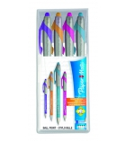 Pochette de 4 stylos bille PAPER MATE - FlexGrip Elite - coloris funs