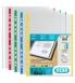 Boîte de 100 pochettes polypro 9/100eme perforées bord couleurs - assortiments