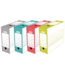 Paquet de 20 boîtes archive automatiques ELBA dos 10 cm - assortiment