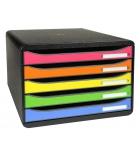 Module de classement EXACOMPTA Bigbox+ Horizon - 5 tiroirs - arlequin