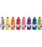 Pack école de 8 bouteilles de gouache liquide GIOTTO Omyacolor 1 litre - assortiment