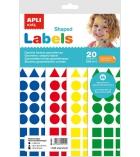 Pochette de 20 feuilles de gommettes APLI Kids adhésives permantentes A4 - assortiment
