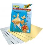 Bloc de 10 feuilles de papier dessin métallisé A4 - 130g