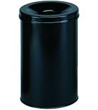 Corbeille à papier métal avec étouffoir DURABLE - 30 litres
