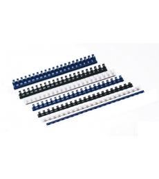 Boîte de 100 reliures à anneaux plastique - Ø 16 mm