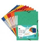 Paquet de 10 chemises carte à rabats avec élastiques  EXACOMPTA - 355 g