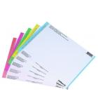Paquet de 10 planches d'étiquettes - pour dossiers tiroir