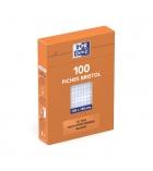 Paquet de 100 fiches bristol quadrillées OXFORD - 105 x 148 mm - blanc