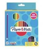 Etui de 24 crayons de couleur triangulaires PAPERMATE double pointe - 3,3 mm