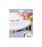 Etui de 24 crayons de couleur PENTEL Arts