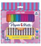 Pochettes de 16 stylos PAPERMATE Inkjoy 100 CAP Candy POP - assortis