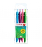Pochette de 4 stylos bille gel UNIBALL Jetstream Mix