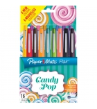 Pochette de 16 stylos feutres PAPERMATE Flair Candy Pop - pointe nylon - assortis